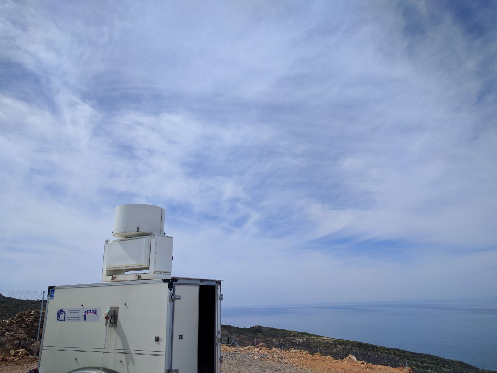 Cirrus clouds observation at Finokalia site.
